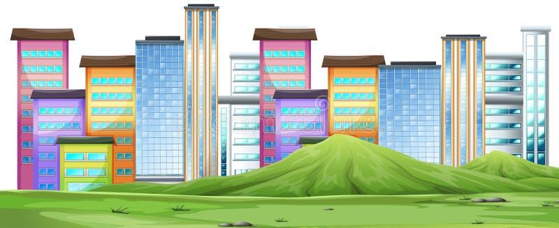 都市城市场面 库存例证