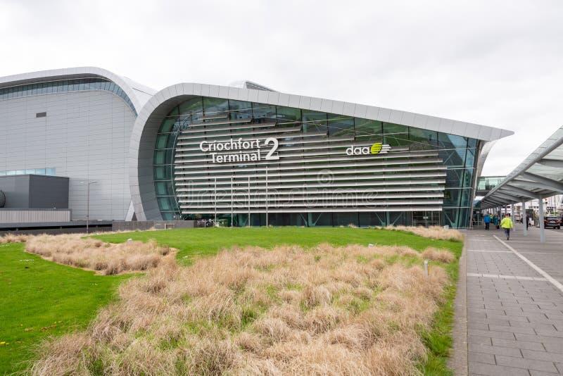 都柏林机场的终端两 免版税图库摄影