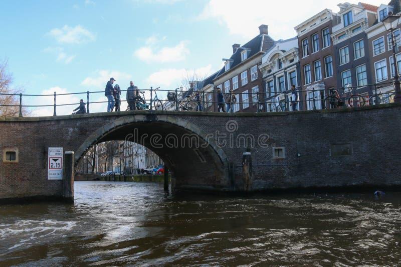 阿姆斯特丹,荷兰桥梁  免版税库存照片