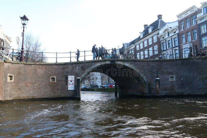 阿姆斯特丹,荷兰桥梁  库存图片
