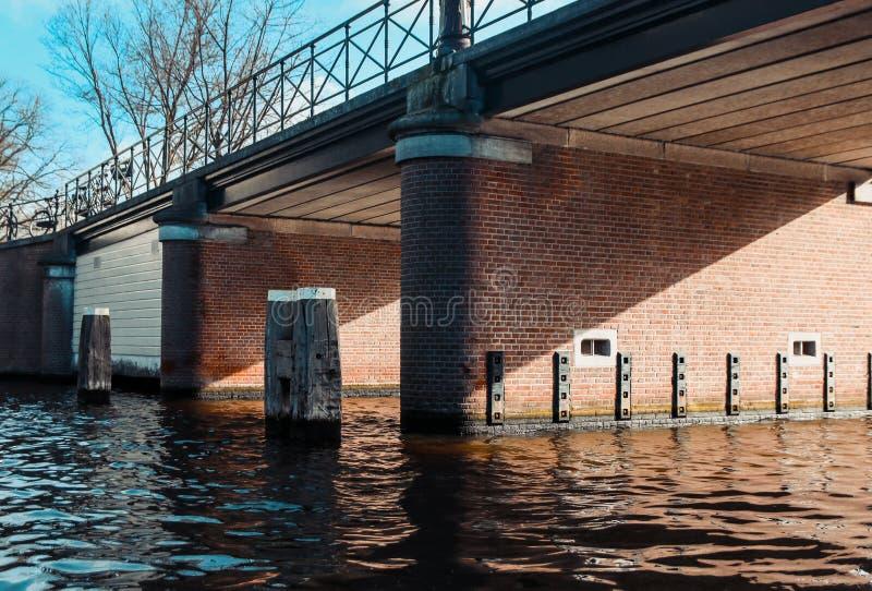 阿姆斯特丹,荷兰桥梁  免版税图库摄影