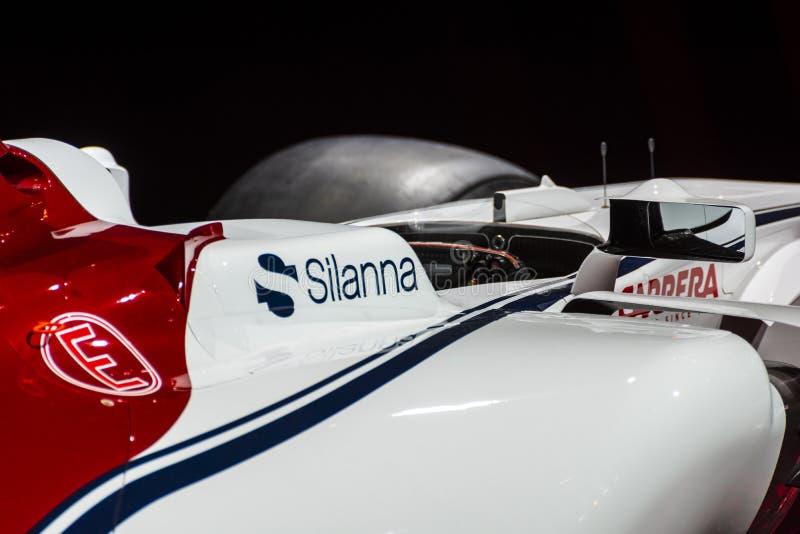 阿尔法・罗密欧Sauber惯例1汽车 免版税图库摄影