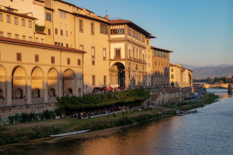 阿尔诺河的看法在佛罗伦萨 免版税图库摄影