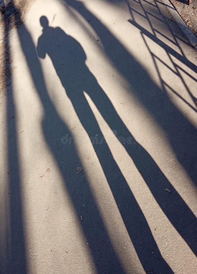 阴影和光、人们和他们的阴影 图库摄影