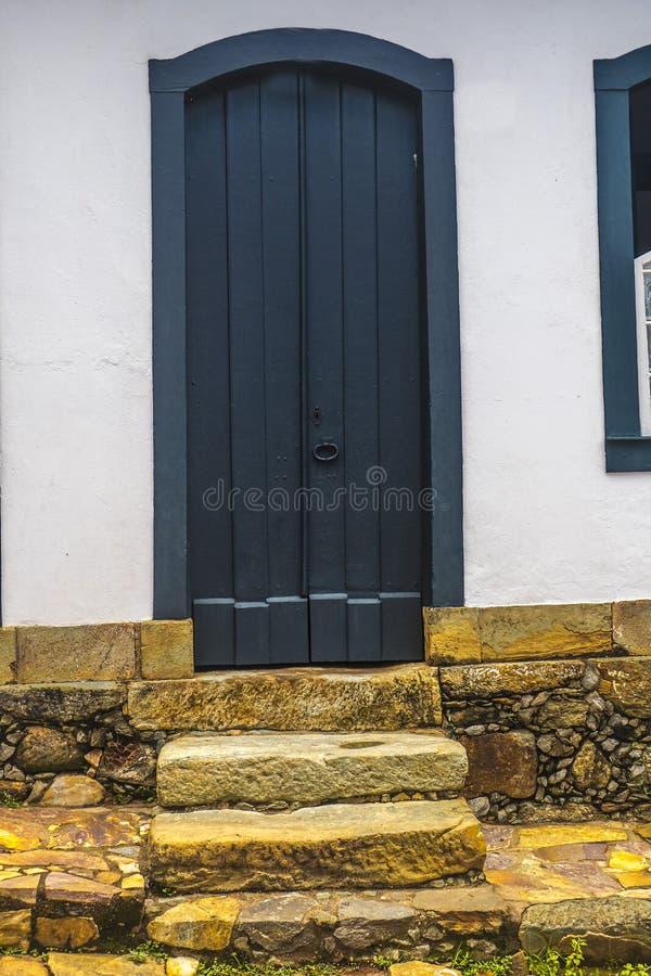 门在Tiradentes -米纳斯吉拉斯州-巴西 免版税库存照片