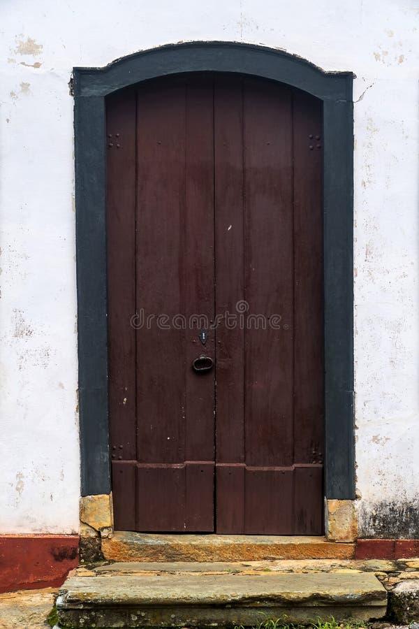 门在Tiradentes -米纳斯吉拉斯州-巴西 图库摄影