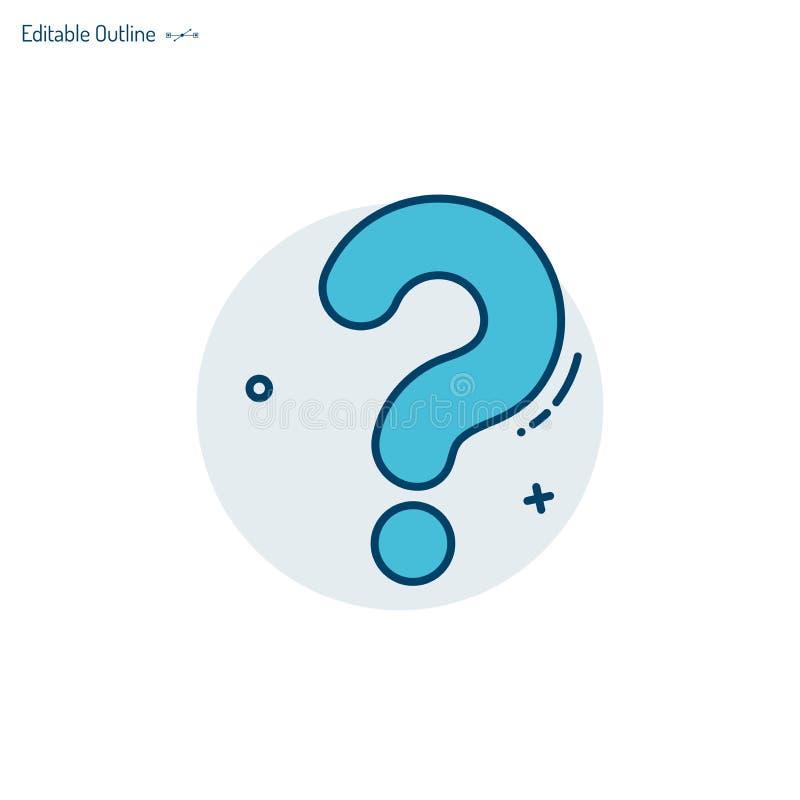 问号,问题象,测验标志,评估模板,问题,混乱,编辑可能的冲程 库存例证