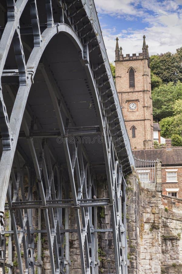 铁桥梁亚伯拉罕达比,Ironbridge,萨罗普郡,英国 免版税图库摄影
