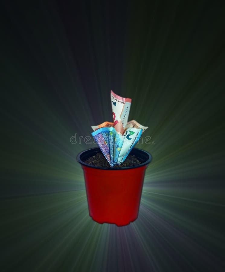 银行业务概念家货币罐 库存图片