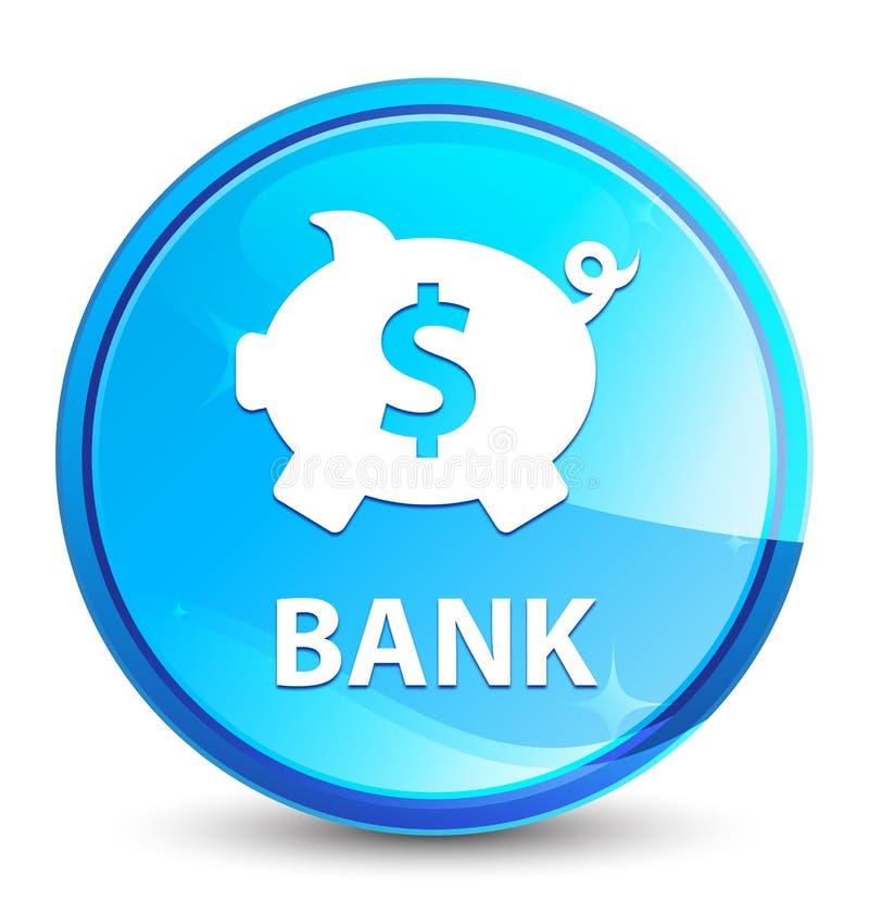 银行(贪心箱子美元的符号)飞溅自然蓝色圆的按钮 向量例证