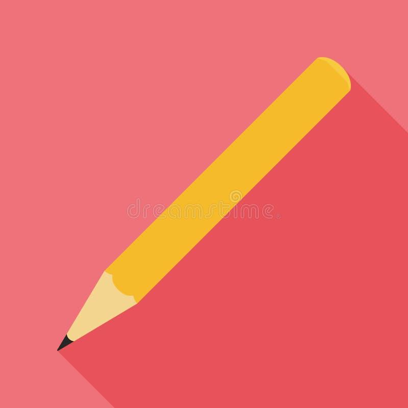 铅笔平的象 皇族释放例证