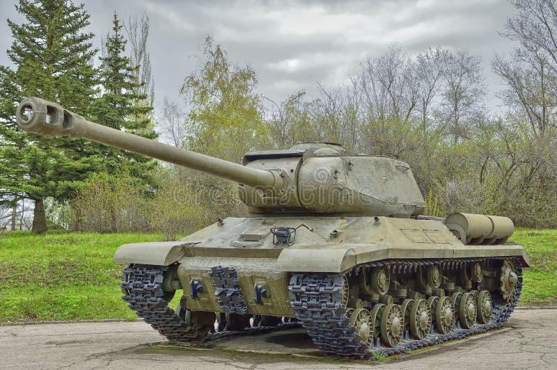 重的坦克IS-2 1944发行,在使用中与苏联军队的队伍的 免版税库存图片