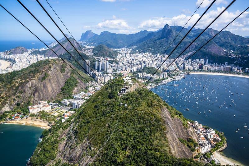 里约,里约热内卢,巴西鸟瞰图  免版税库存照片