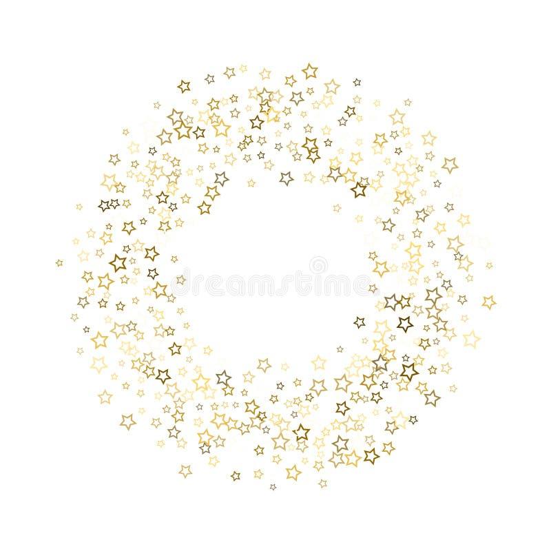 金子闪烁五彩纸屑闪闪发光 皇族释放例证