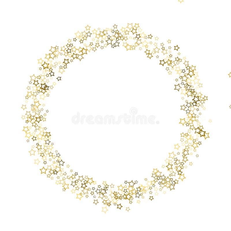 金子闪烁五彩纸屑闪闪发光 向量例证