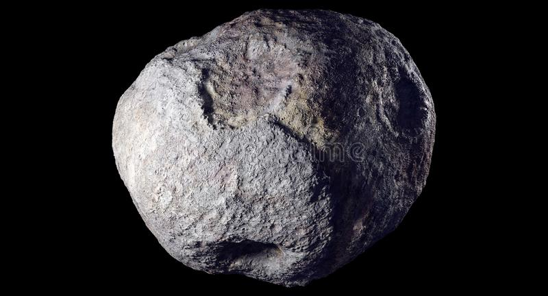 金属小行星 库存图片