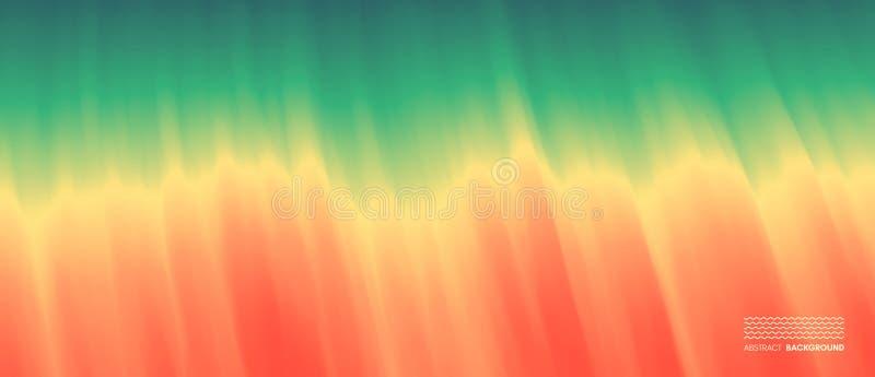 金黄波纹水面 海洋波浪沙滩的 背景蓝色云彩调遣草绿色本质天空空白小束 流动应用程序和网的现代屏幕设计 夏天传染媒介 库存例证