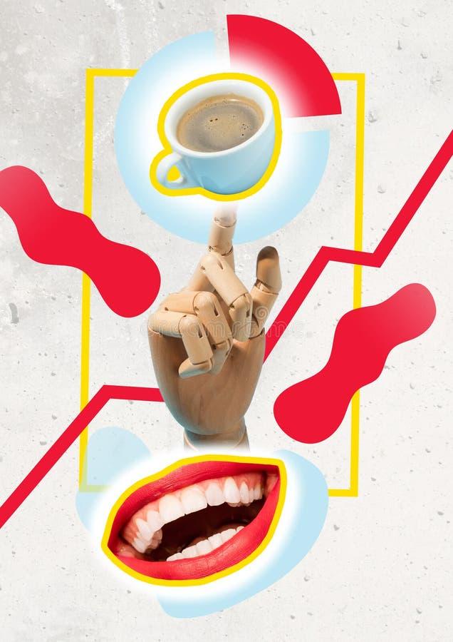 采取断裂咖啡杯概念 库存图片