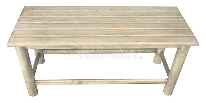 长木凳椅子被隔绝在白色 免版税库存照片