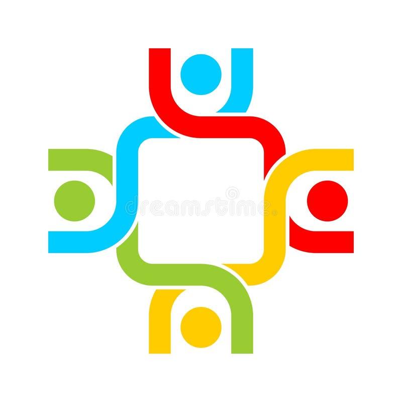 配合小组商标图象 库存例证