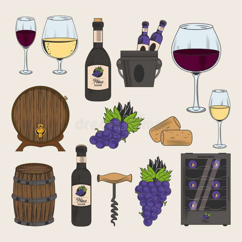 酿酒厂和酒象 皇族释放例证
