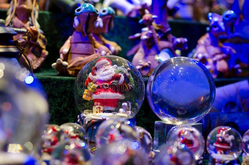 雪球玩具玻璃球 免版税库存照片