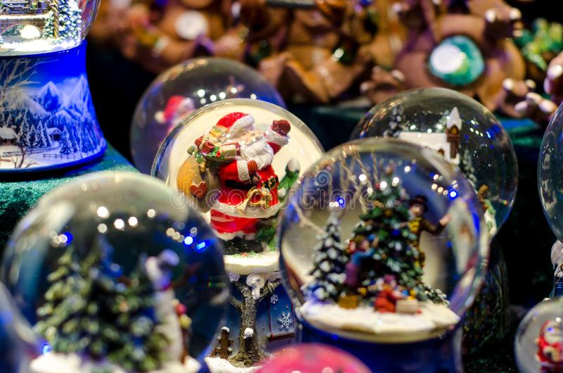 雪球玩具玻璃球 库存图片