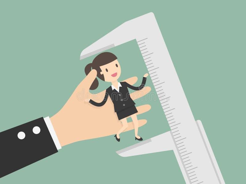 雇员评估 库存例证