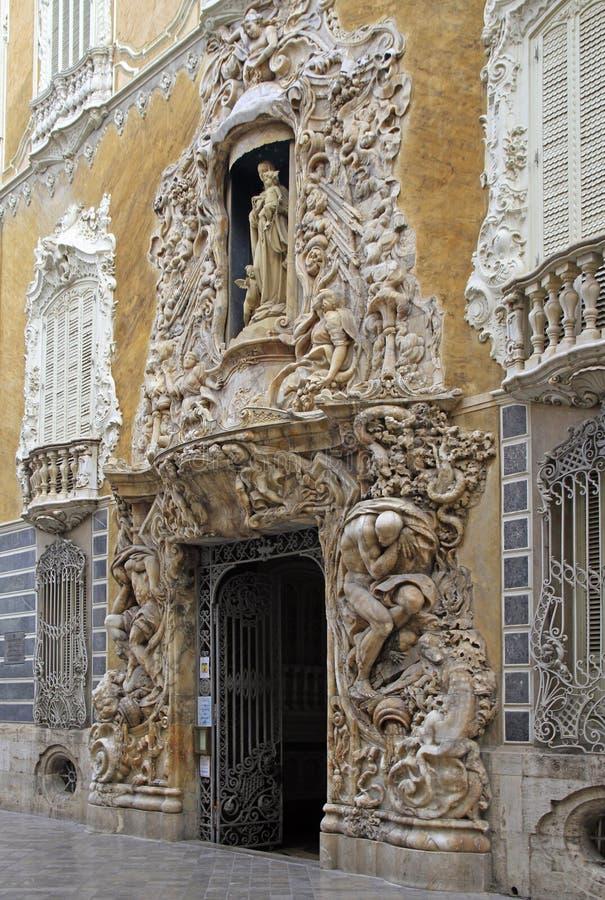 陶瓷国家博物馆美丽的外部门面在巴伦西亚 免版税库存图片