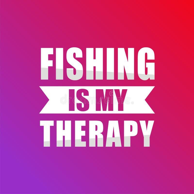 钓鱼是我的疗法 向量例证