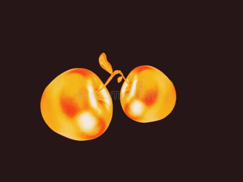 É amor Amor das maçãs douradas foto de stock