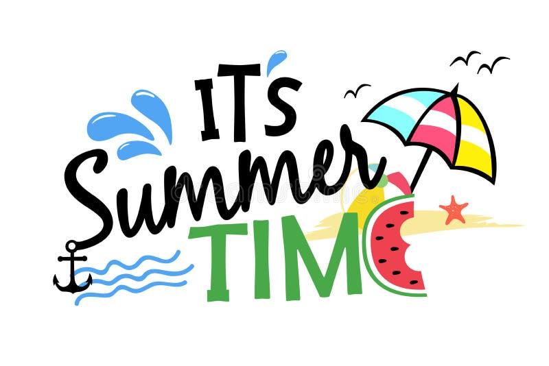 É ilustração das horas de verão fotografia de stock