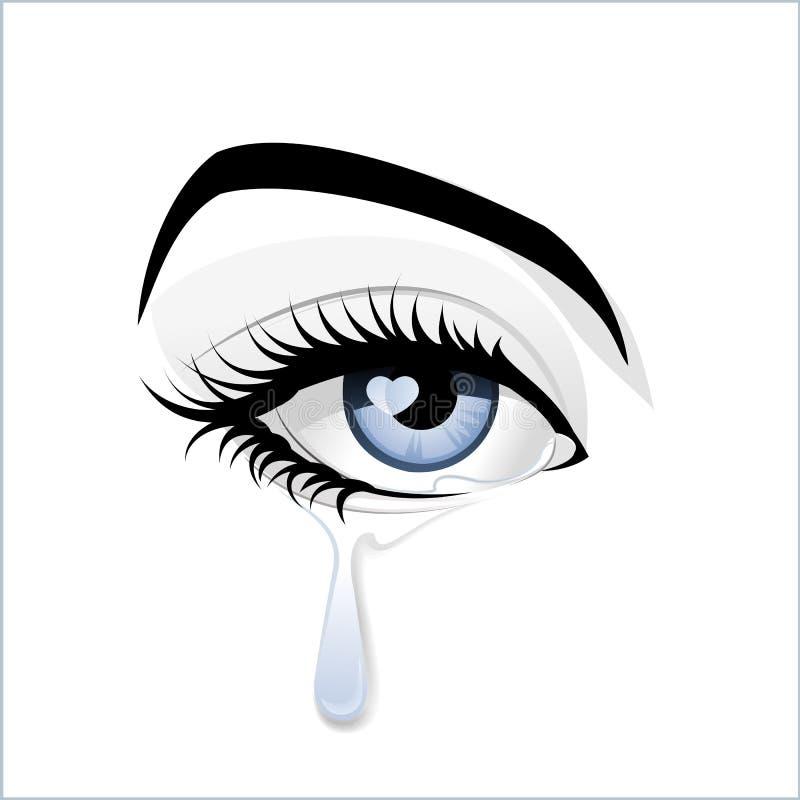 É o olho azul? ilustração royalty free