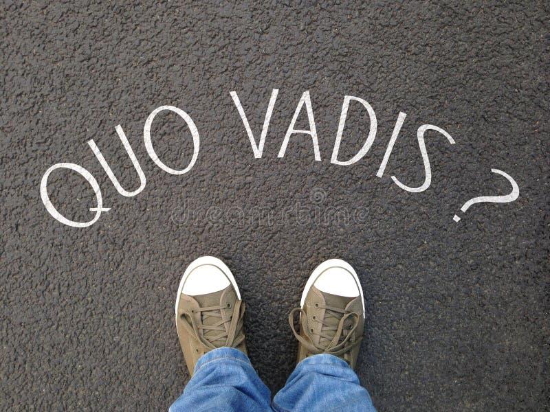 É quo vadis uma frase do latino que significa onde está você que vai imagem de stock