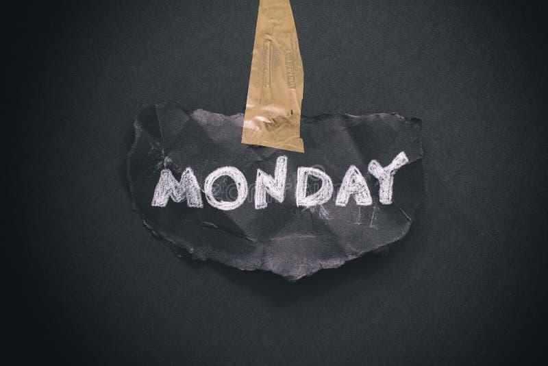 É segunda-feira outra vez fotografia de stock