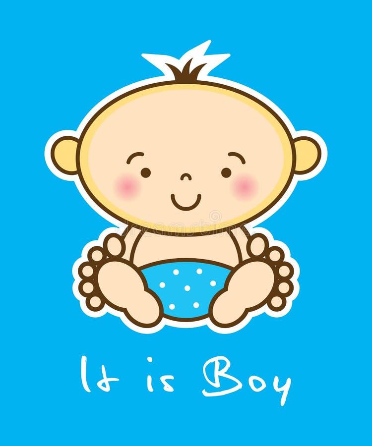 É um cartão do menino ilustração royalty free