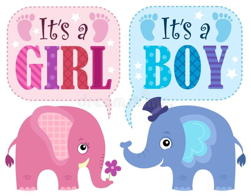 É um tema 1 da menina ou do menino ilustração stock