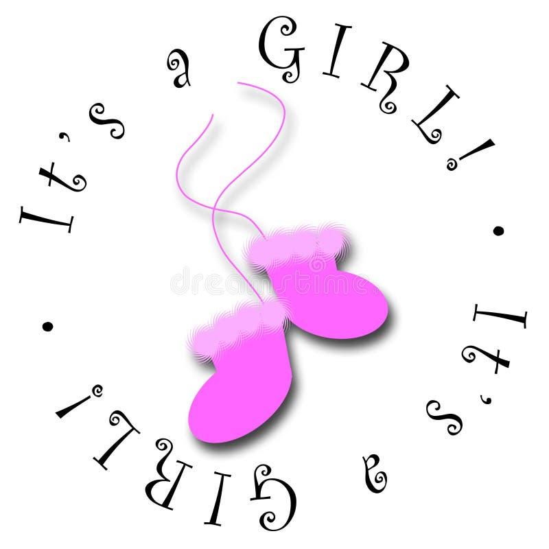 É uma menina! ilustração stock