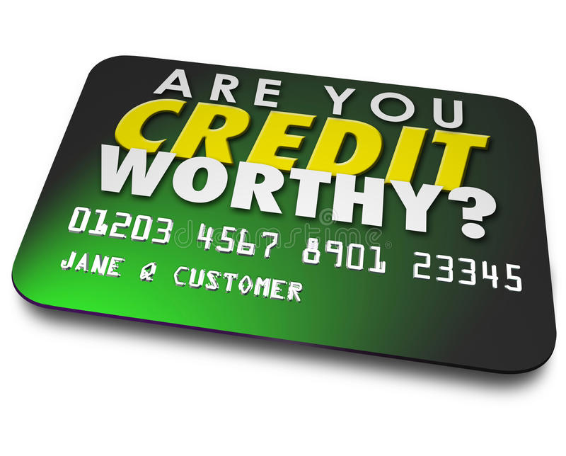 É você contagem digna do relatório do dinheiro do empréstimo do cartão do crédito ilustração stock