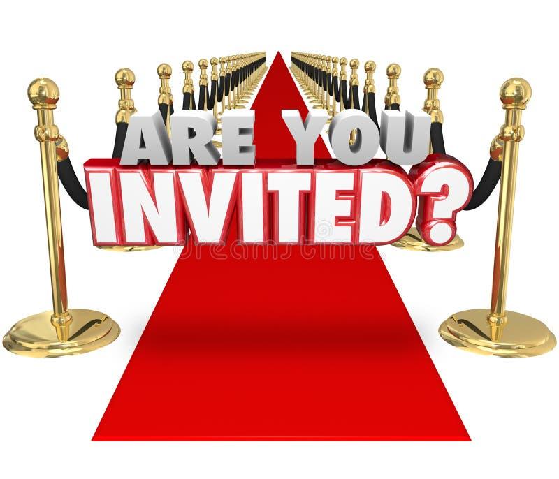 É você convidou o evento especial exclusivo de tapete vermelho das palavras 3d ilustração royalty free