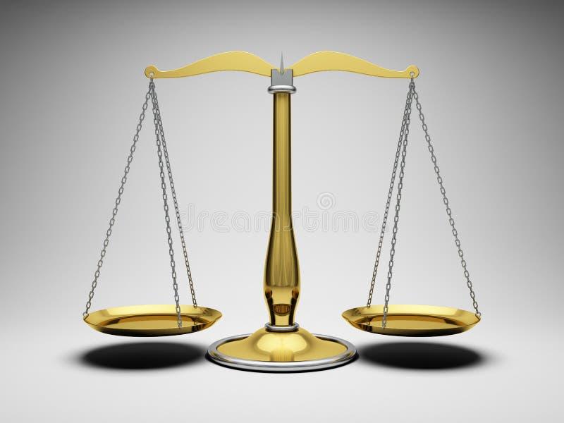 Écaille la justice illustration de vecteur