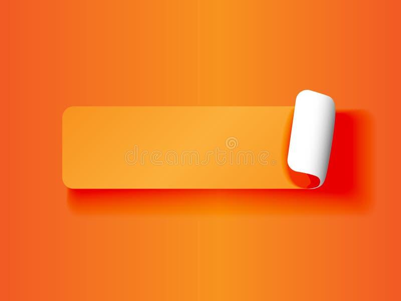 Écaillement de l'orange d'étiquette sur l'orange illustration libre de droits