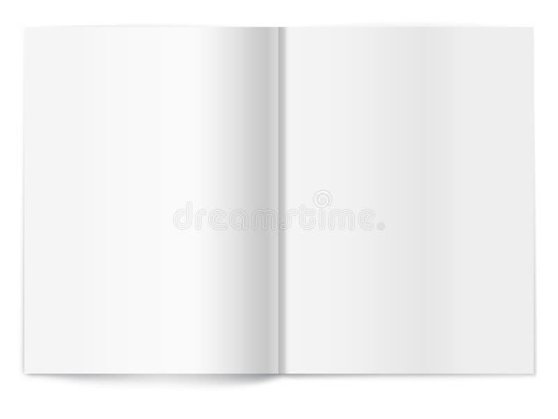 Écart blanc de revue. Descripteur pour la conception illustration stock