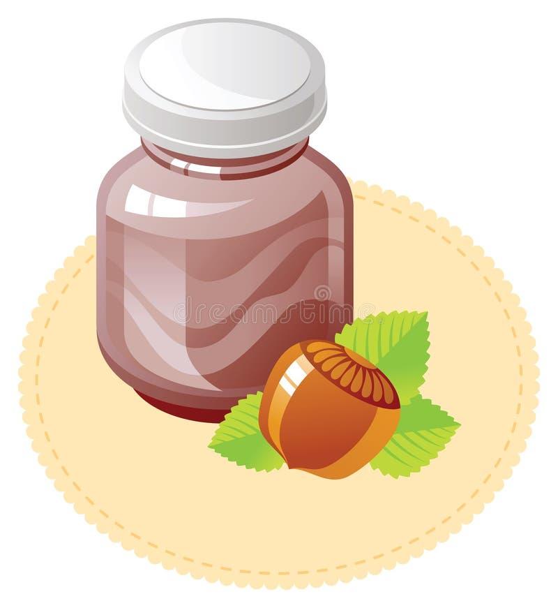 Écart de chocolat et de noisette illustration de vecteur