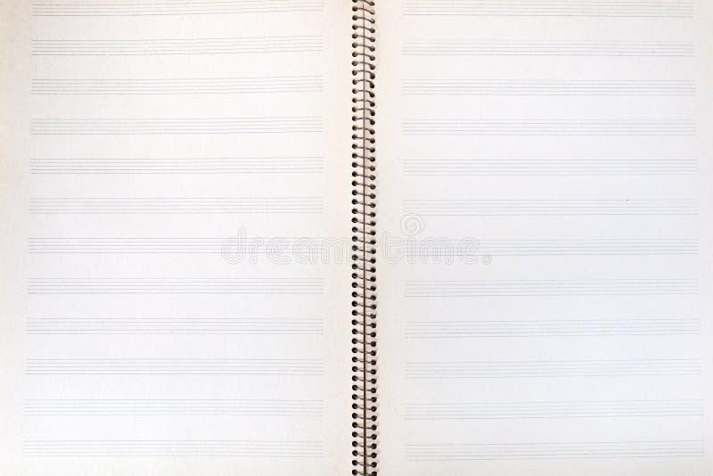écart de Double-page de cahier de musique photos libres de droits