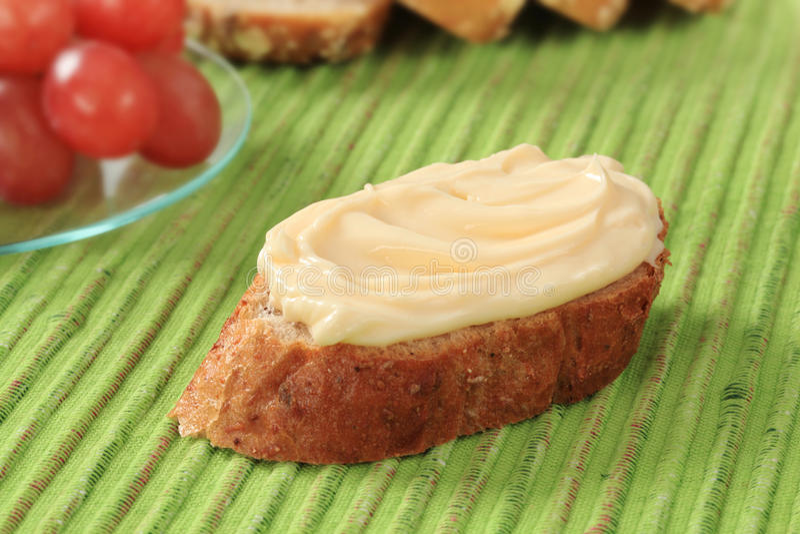Écart de pain et de fromage photographie stock libre de droits