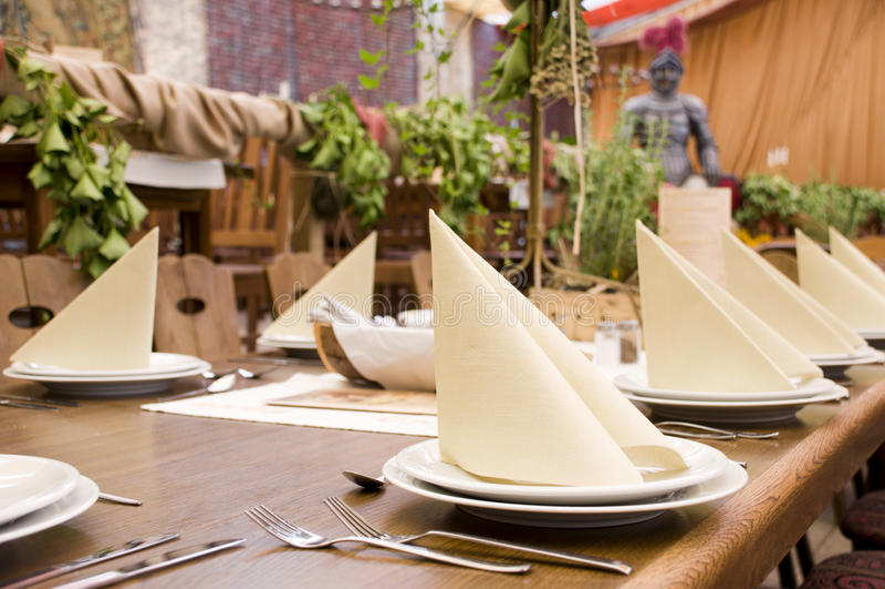 Écart de table de restaurant image stock