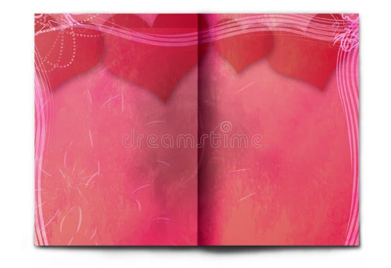Écart rouge de magazine jour blanc/vide de Valentine photographie stock libre de droits