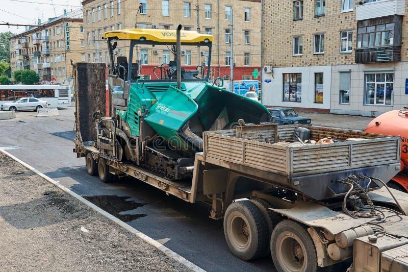 Écarteur d'asphalte de Vogele image stock