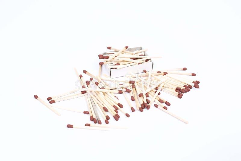 Écartez des allumettes en bois brunes photo stock